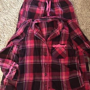 Victoria Secret plaid flannel pajamas